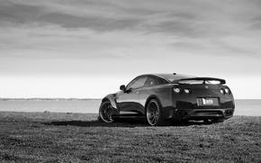 Picture GTR, Nissan, white, black