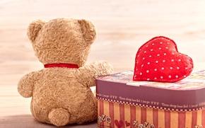 Wallpaper bear, heart, love, toy, bear, cute, plush, romantic, love, Teddy, heart