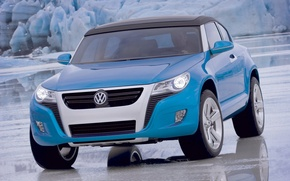 Picture blue, ice, Volkswagen, Concept A