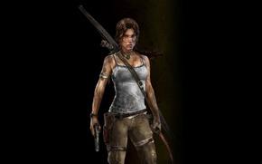 Wallpaper game, a survivor is born, tomb raider