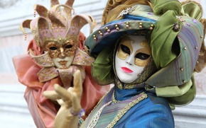 Picture mask, costume, Venice, fabric, carnival