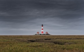 Picture lighthouse, North Sea, nature, Schleswig-Holstein, Westerhever, landscape