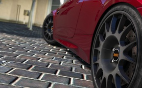 Picture red, wheel, BMW, day, drives, E92, GTS, GTA 5, 2015