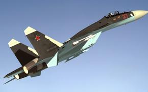 Wallpaper flight, fighter, Sukhoi, Flanker, SU 27
