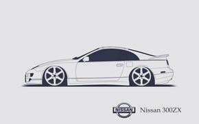 Picture Nissan, 300ZX, Minimalistic, SrCky Design