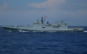 """Picture Navy, frigate, The Mediterranean sea, patrol ship, """"Admiral Grigorovich"""", 11356 project"""
