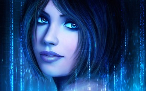 Picture face, halo, cortana