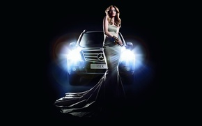 Picture machine, girl, light, lights, Mercedes, Mercedes, GLK