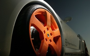 Wallpaper Wheel, Orange, Porsche