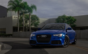 Picture Audi, House, Blue, RS5