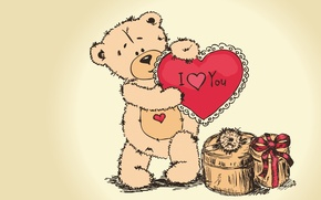 Picture gift, bear, Valentine's day, Teddy, i love you, teddy bear, valentines day