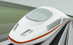 Wallpaper vector, speed, Train