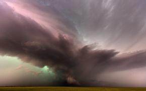 Picture field, storm, nature, element, storm
