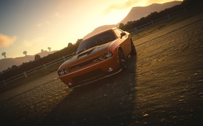 Picture Dodge Challenger, The Crew, Sun Set