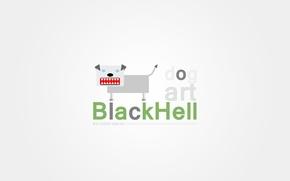 Picture dog, Minimalism, minimal, Balandin, Black light