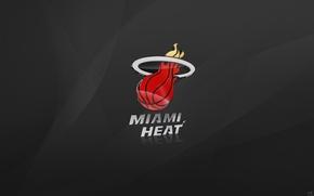 Picture Grey, Basketball, Background, Logo, NBA, Miami, Miami Heat