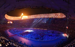 Picture stadium, Beijing, the opening of the Olympic games