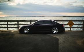 Picture Audi, Audi, tuning, black, profile, black