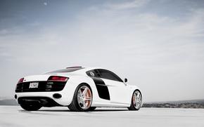 Picture white, the sky, clouds, Audi, Audi, white
