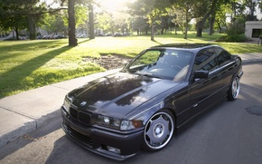 Picture tuning, BMW, BMW, black, black, tuning, E36