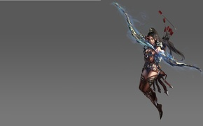 Picture girl, fantasy, the game, bow, Archer, art, arrow