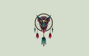 Picture Minimalism, Minimalism, Owl, Dreamcatcher, Dream Catcher