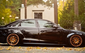 Picture autumn, leaves, Audi A4 B8
