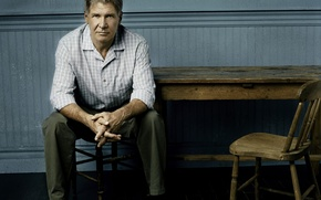 Wallpaper table, actor, sitting, Harrison Ford, Harrison Ford