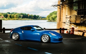 Picture car, nissan, blue, tuning, 370z