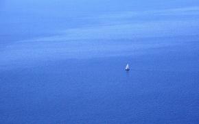 Picture sea, minimalism, boat, landscape