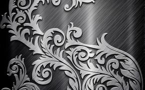 Picture metal, pattern, grey