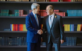 Picture the Ministry of foreign Affairs, Kerry, Lavrov
