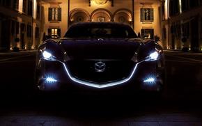 Picture light, night, lights, Mazda, Mazda Shinari Concept 2011, night light
