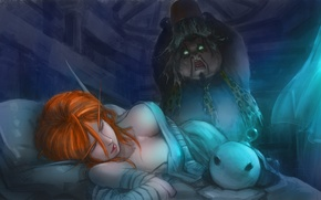 Picture fantasy, the game, art, Panda, World of Warcraft, Wow