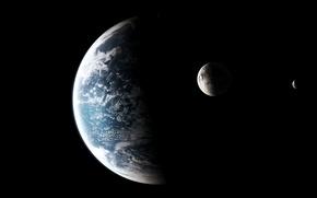 Picture the atmosphere, satellites, planet ocean