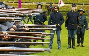 Picture soldiers, guns, Tom Cruise, Tom Cruise, The Last Samurai, The Last Samurai