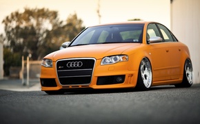 Picture orange, stance, bagged, Rotiform's, Audi RS4