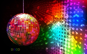 Picture color, ball, art, Disco