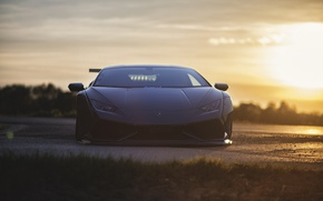 Wallpaper Huracan, Lamborghini, front view, light