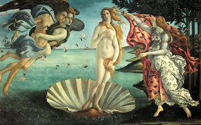 Picture mythology, Sandro Botticelli, The Birth Of Venus, picture