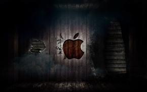 Picture wall, apple, Apple, mac, logo