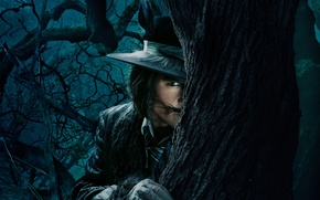 Picture Johnny Depp, Fantasy, Nature, Sky, Darkness, the, Night, Wallpaper, Family, Wolf, Eyes, Mountains, Boy, Year, …