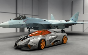 Picture Car, Concept, Lamborghini, Egoista, Fighter, 2013, Auto