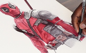 Picture Figure, Sword, Deadpool, Marvel, Deadpool, Wade Wilson