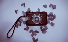 Picture mood, heart, the camera, hearts, love, the view from the top