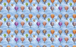 Picture balloon, background, flight, journey, children's, textura