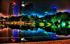 Picture color, night, the city