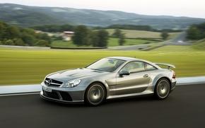 Picture auto, track, Mercedes, Mercedes, AMG, SL 65, Black series