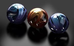 Wallpaper colorful, Shine, Balls