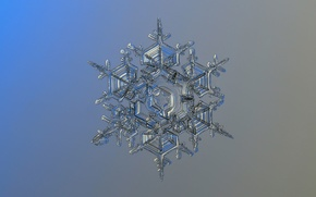 Wallpaper crystal, snowflake, background